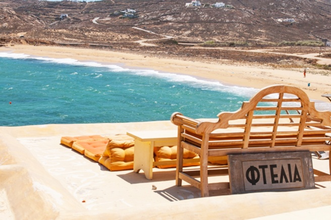 The-beach-of-Ftelia-in-Mykonos-island-
